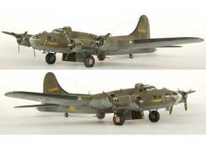 Model plane B-17F Memphis Belle (16)