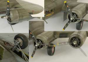 Model plane B-17F Memphis Belle (2)