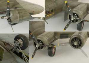 Model plane B-17F Memphis Belle (2)