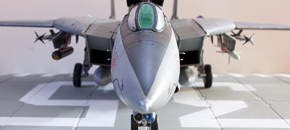 Plastic model airplane kit. F-14D