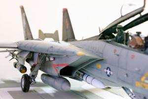 Plastic model airplane kit from Hobby Boss. F-14D