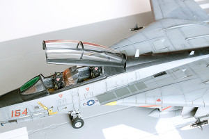 Plastic model airplane kit. F-14D