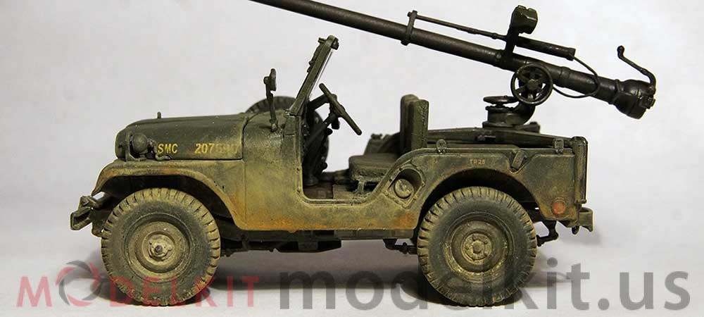Plastic Model Car Military Willys M38a1 Wwii From Afv Club