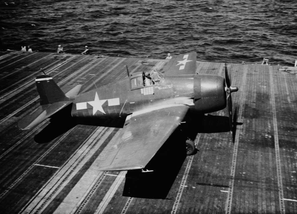 Plane Hellcat F6F-5 at 1944