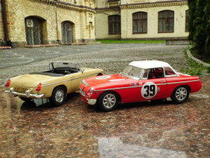 Plastic model car MGB