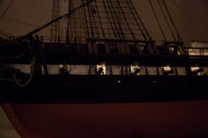 USS Constitution plastic model