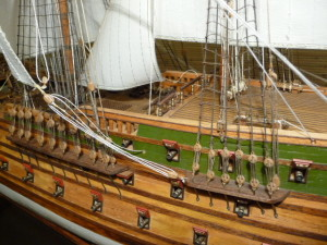 wooden ship model Norske Love (21)