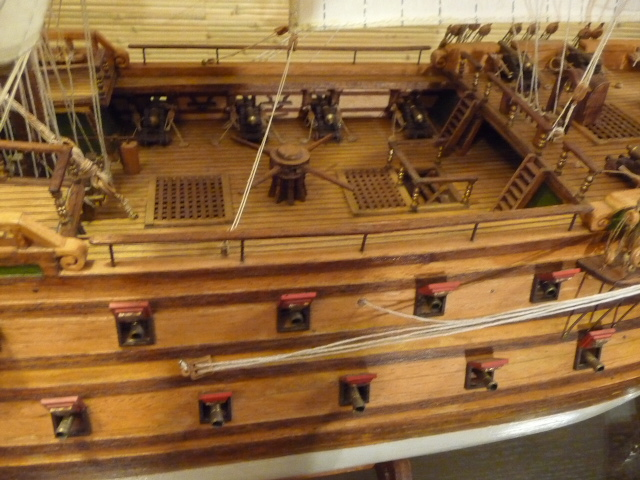 Wood Model Ship Kit 74 Gun Battleship Norske Love Model