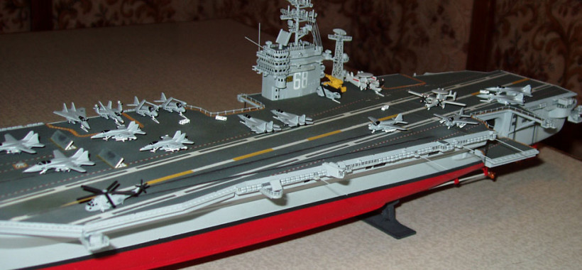 model aircraft carrier