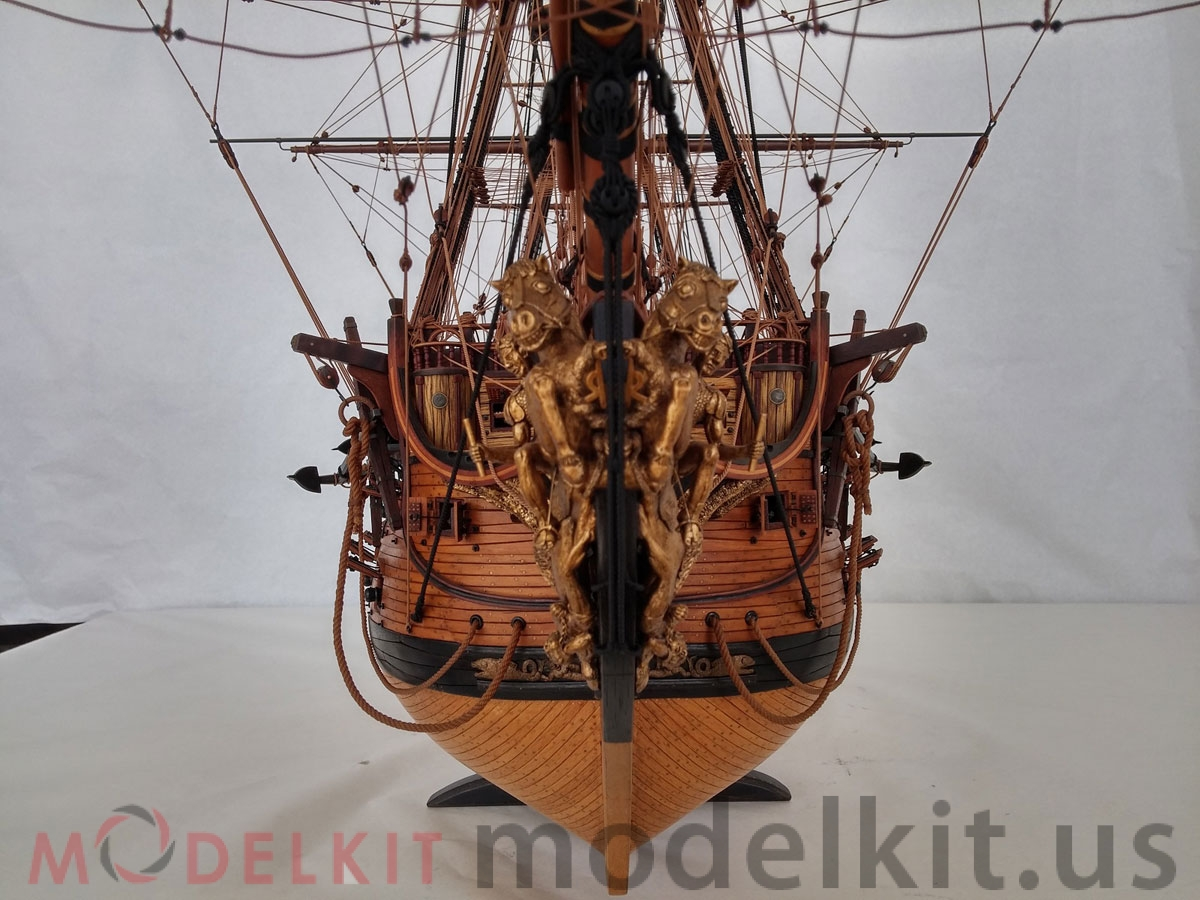 wooden model ship HMS Royal William 1719 (3)