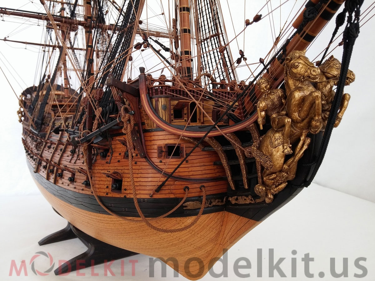 wooden model ship HMS Royal William 1719 (5)