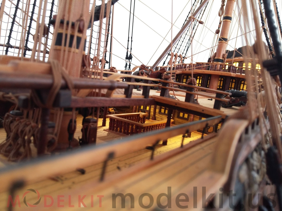 wooden model ship HMS Royal William 1719 (7)