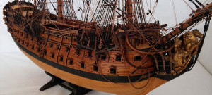 wooden model ship Royal William