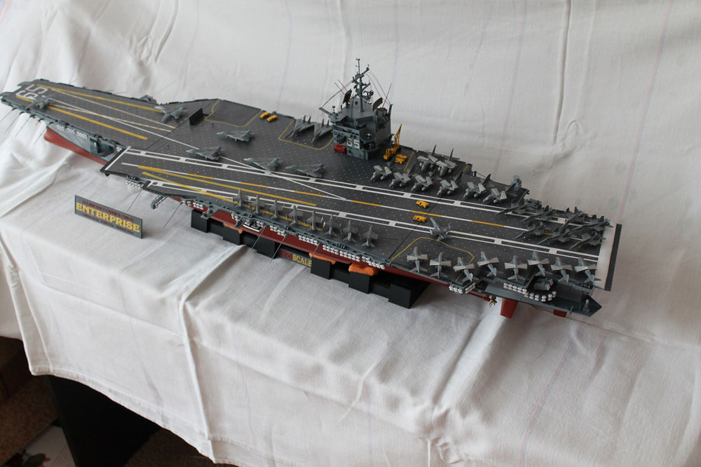 model aircraft carrier USS Enterprise CVN-65