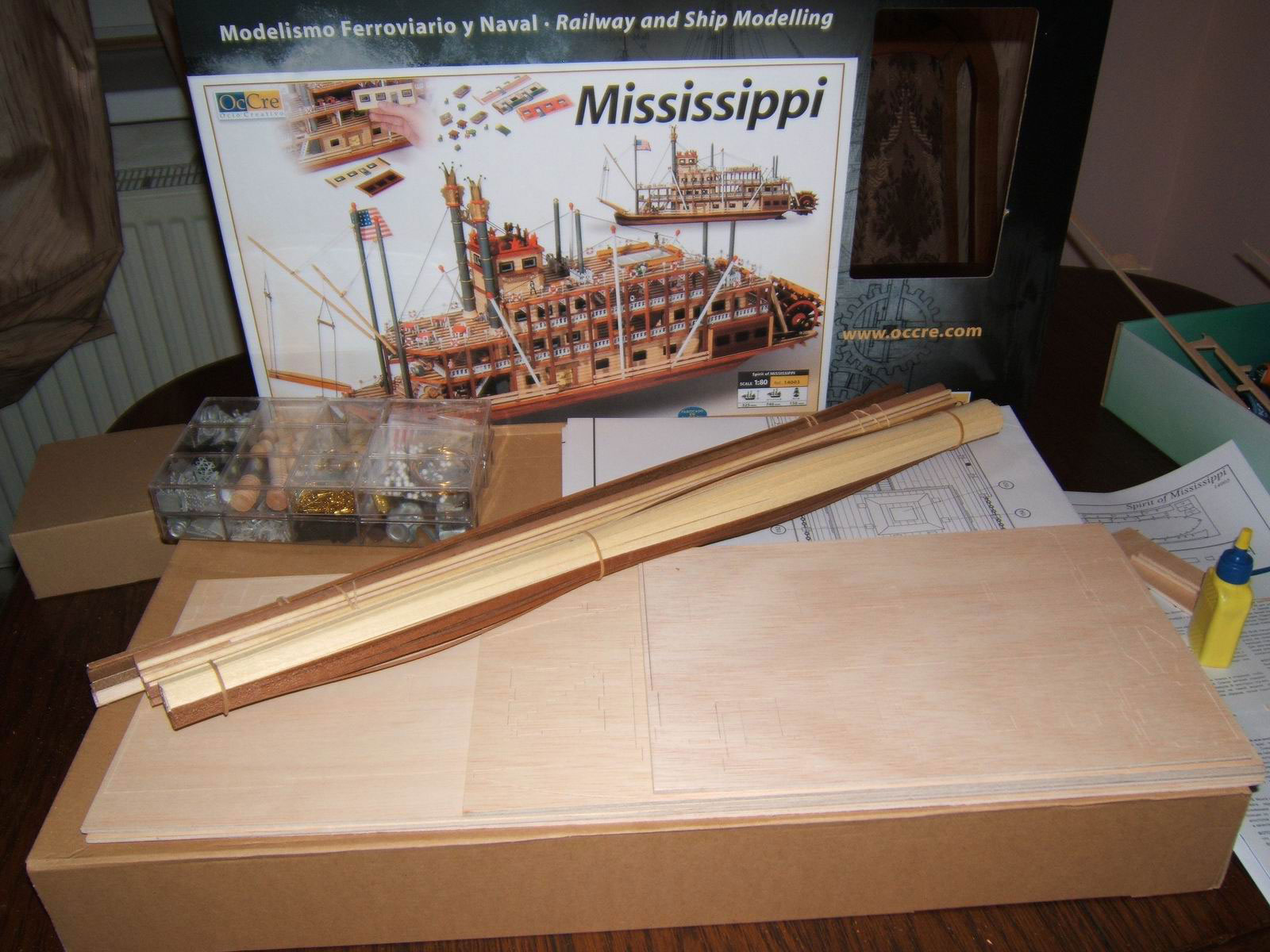 wooden model cruise ship