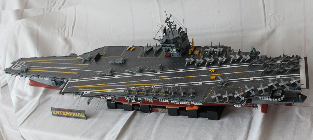 The world's largest aircraft carrier model USS Enterprise ...