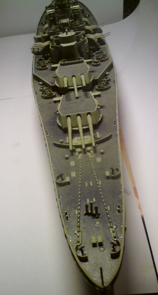 plastic model battleships