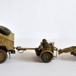 scale model Field gun and Gun tractor