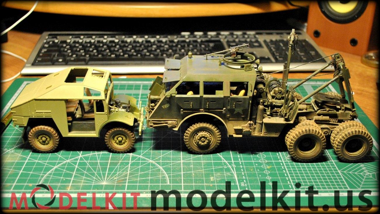 scale model Field gun and Gun tractor (2)
