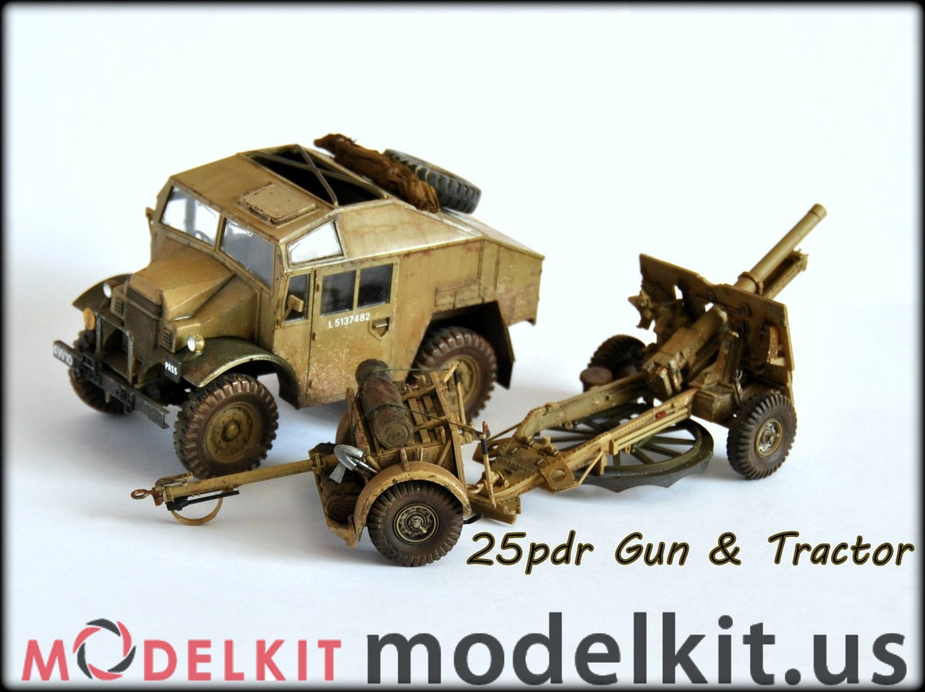 scale model Field gun and Gun tractor (3)