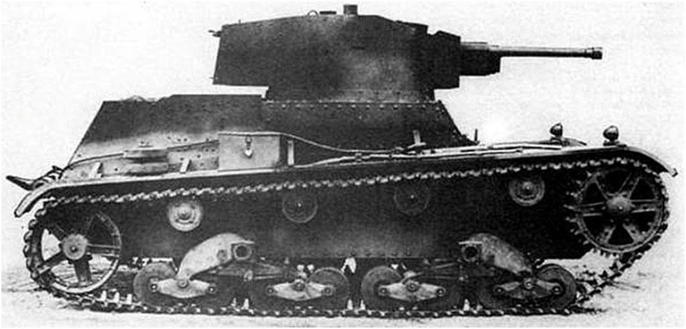 tank model 7TP Light tank