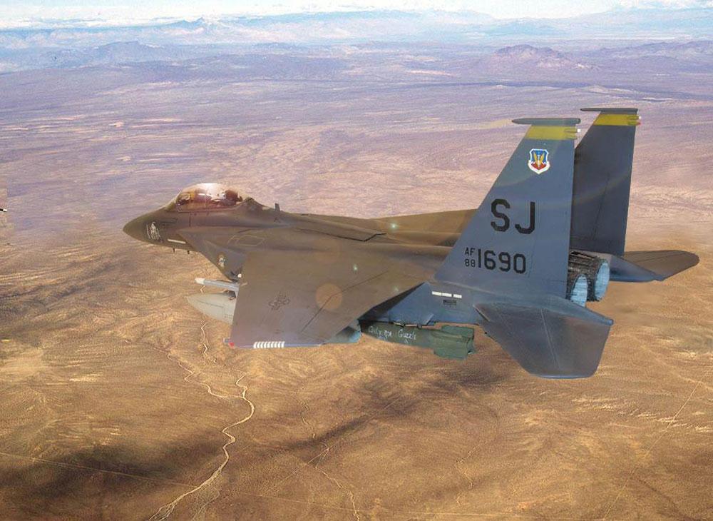 plastic model airplane F-15E