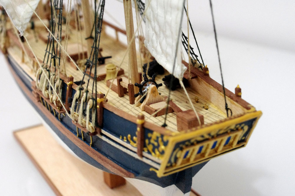 wooden model ship HMS Bounty
