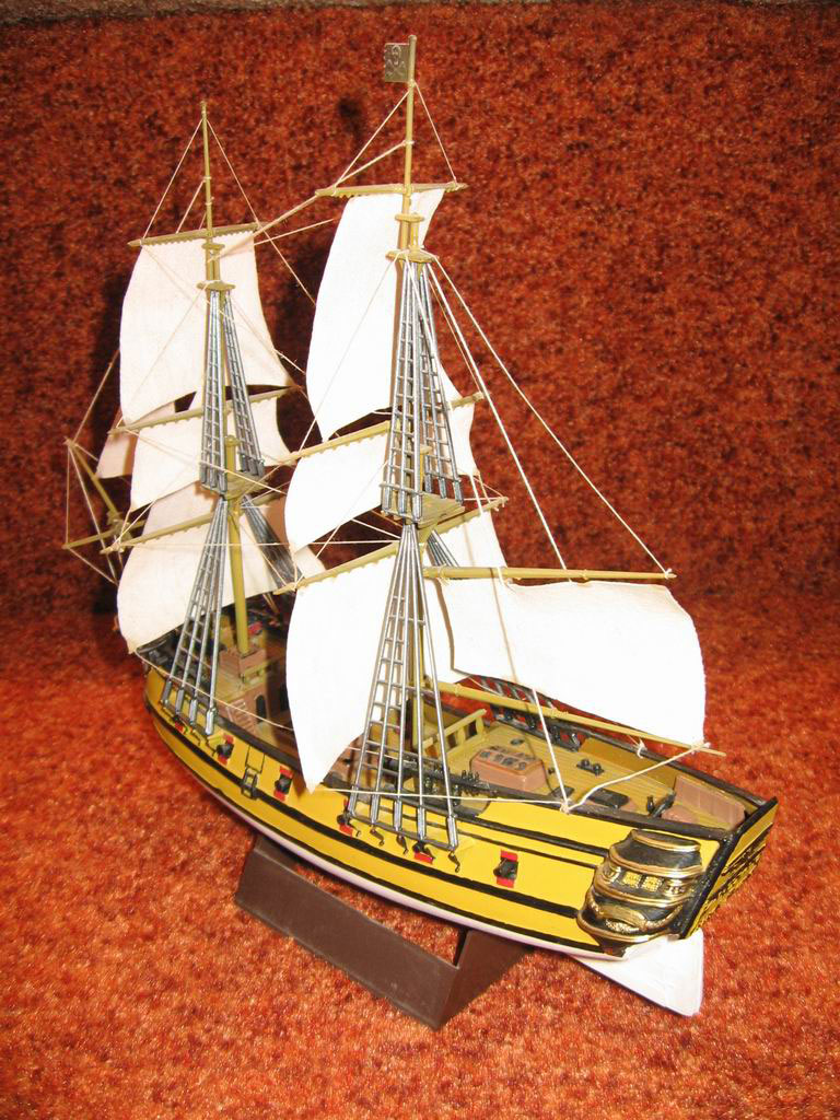 model sailing ship The Black Falcon