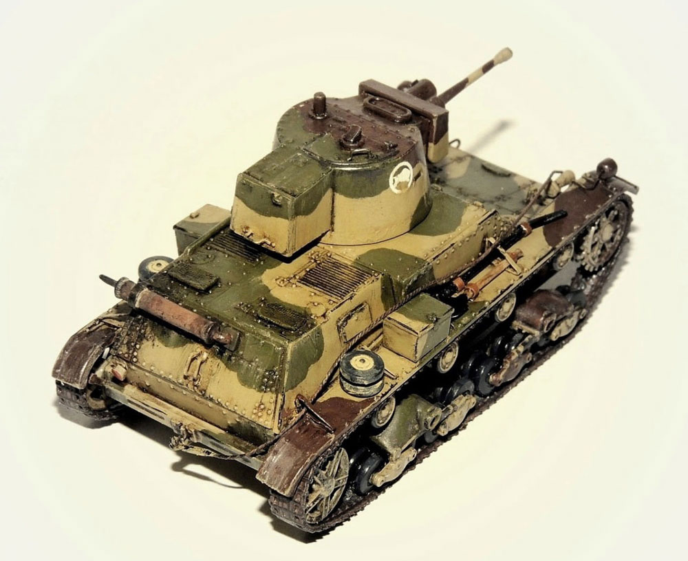 tank model kit 7TP Light tank