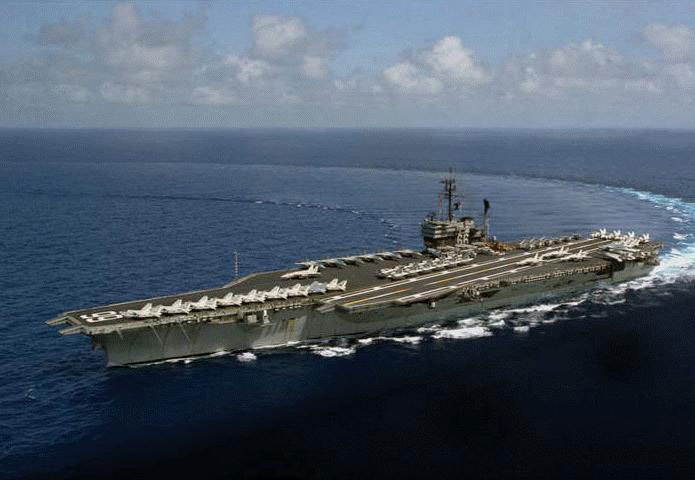 model aircraft carrier America
