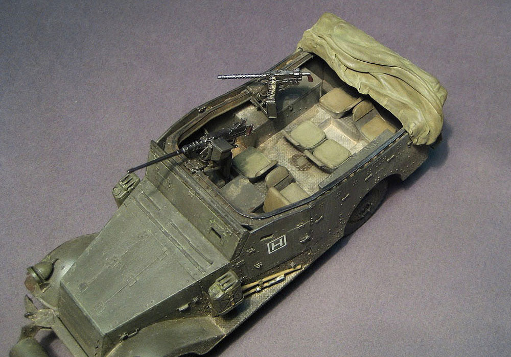 model armored troop-carrier M3A1 Scout