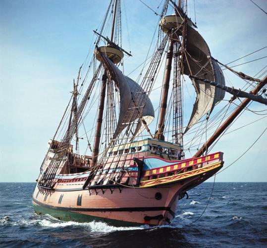 Galleon ship model mayflower from heller kit model kits for Mayflower car shipping