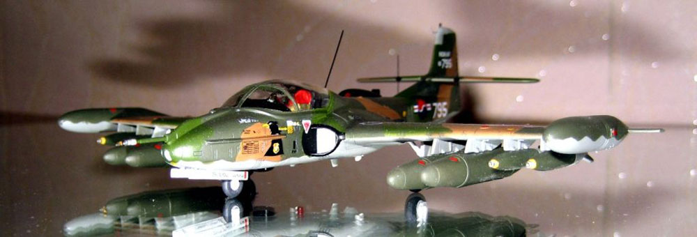 plane model of A-37B Dragonfly