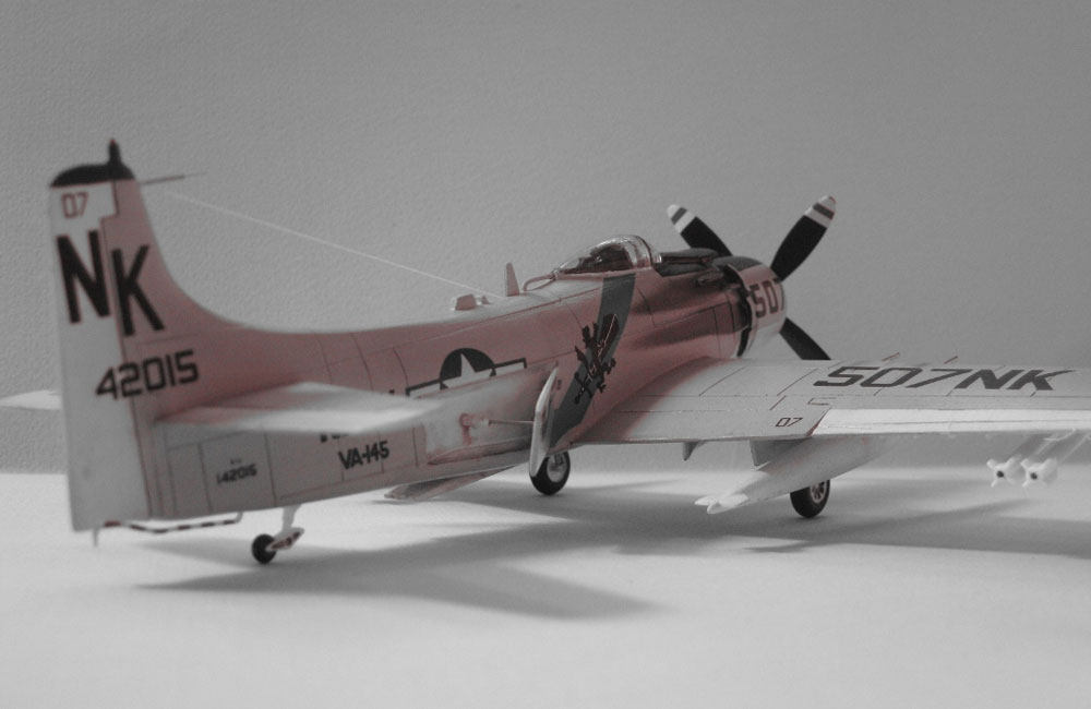 model plane A-1 Skyraider