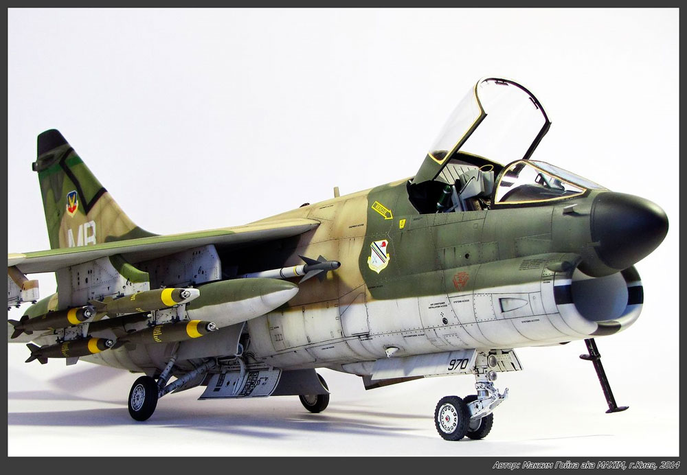 plane model A-7D Corsair II